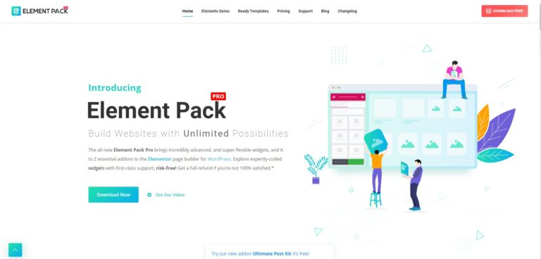 element pack, elementor element pack, bdthemes, element pack pro